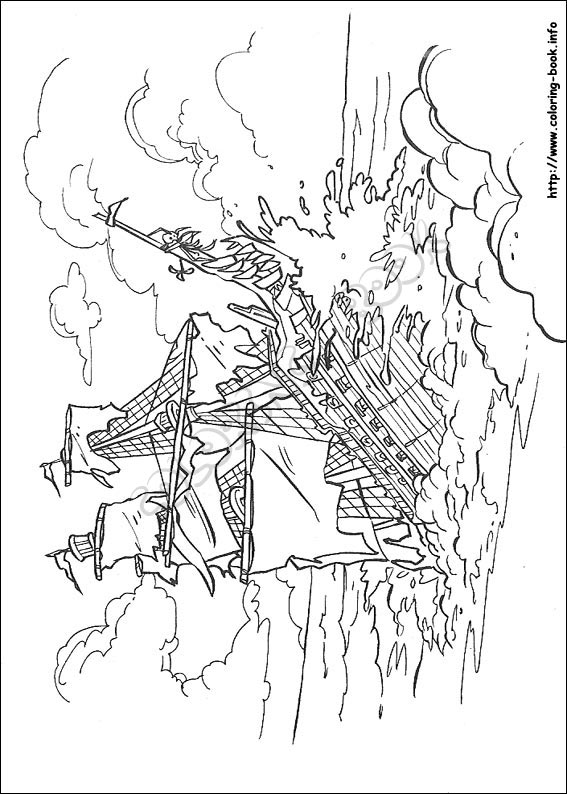 Top 10 Pirates Of The Caribbean Coloring Pages For Toddlers   794x567