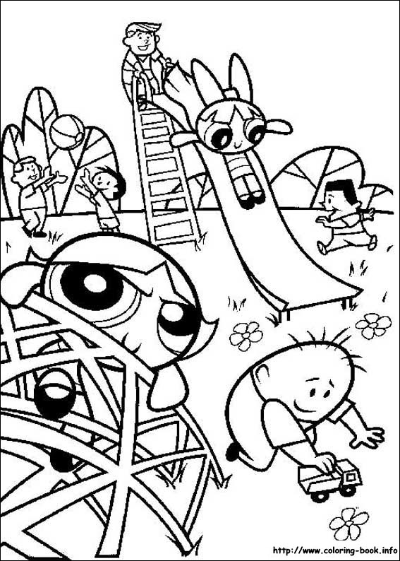 Powerpuff Girls Coloring Picture