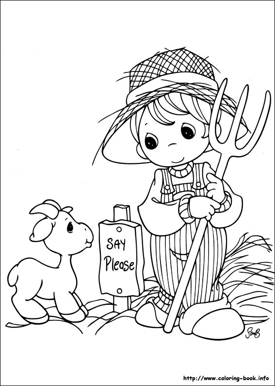 Free Precious Moments Coloring Pages Christmas, Download Free Clip ... | 794x567