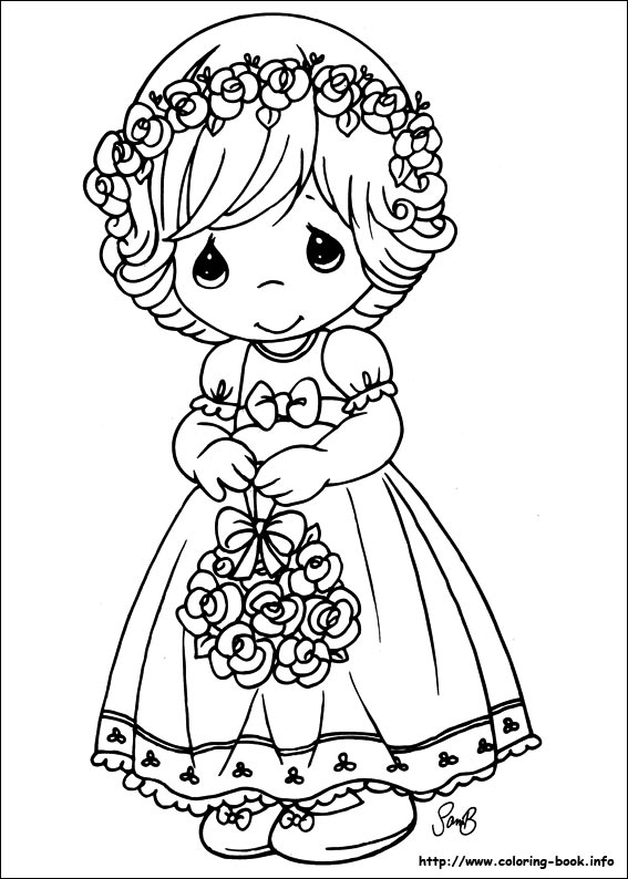 - Precious Moments Coloring Picture