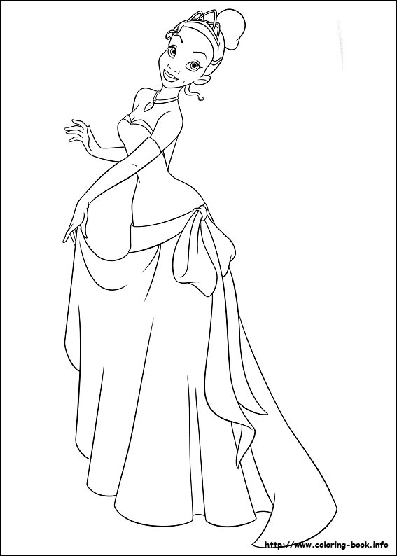 the princess and frog coloring pages on book info - Princess In The Frog Coloring Pages