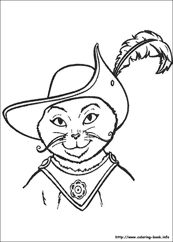 Puss In Boots Coloring Picture