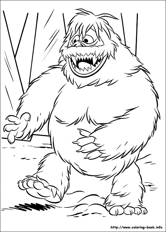 abominable snowman coloring pages | Coloring Pages