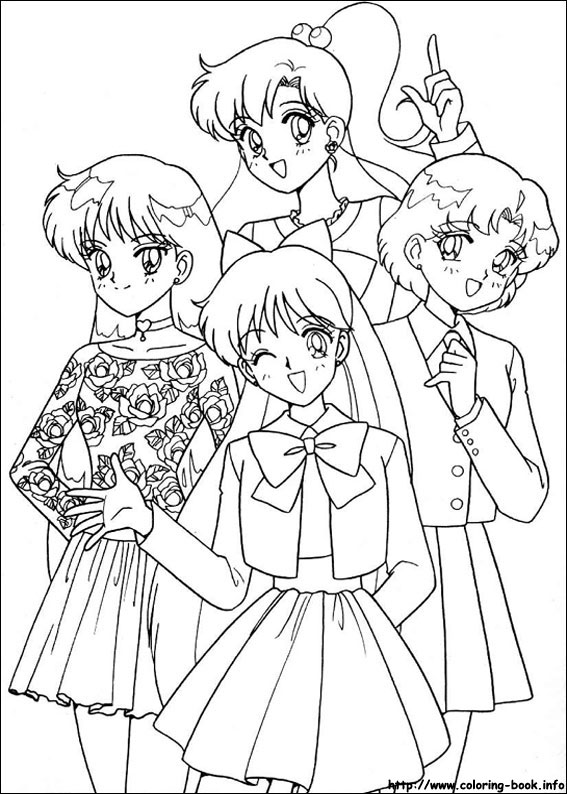 Sailor Moon free printable coloring page - Coloring Library | 794x567