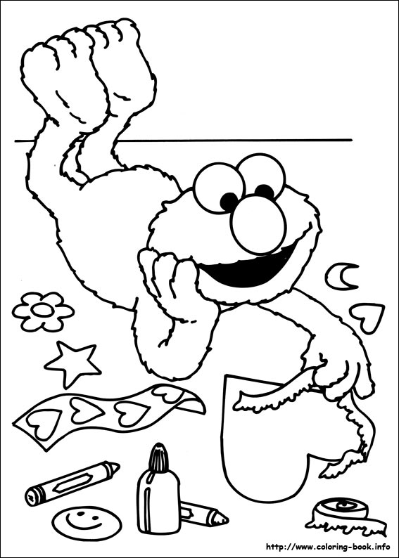 Sesame Street Elmo Coloring Pages Free