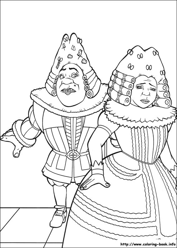 Shrek The Third Coloring Picture