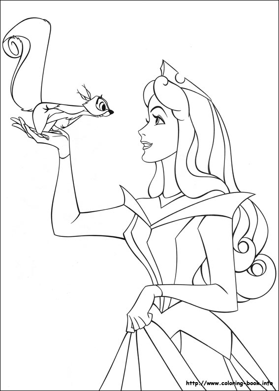 sleeping beauty coloring pages on book info