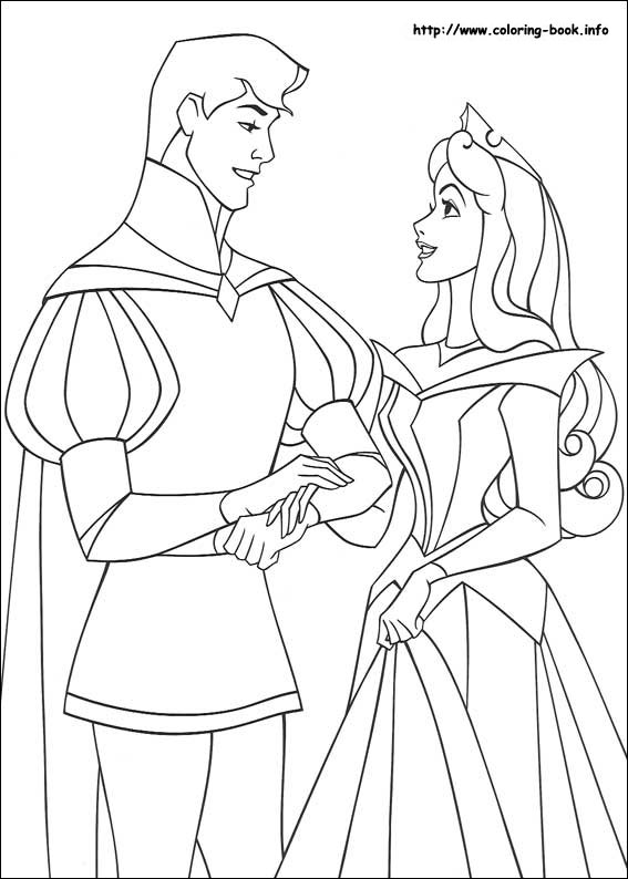 Sleeping Beauty Coloring Picture