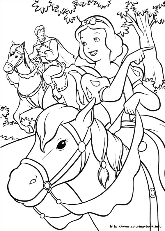 Snow White and the Seven Dwarfs Coloring Pages   Disneyclips.com   794x567