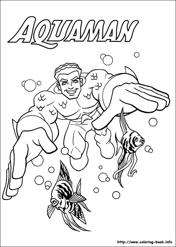 Aquaman Super Hero For Kids Coloring Pages Printable | 794x567