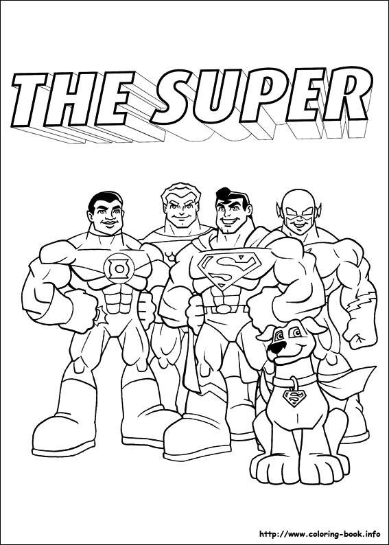 Dc Coloring Pages Dc Super Friends Coloring Pages  Coloring Page