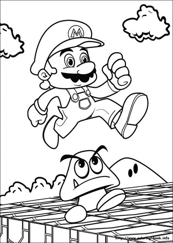 Super Mario Bros Coloring Picture