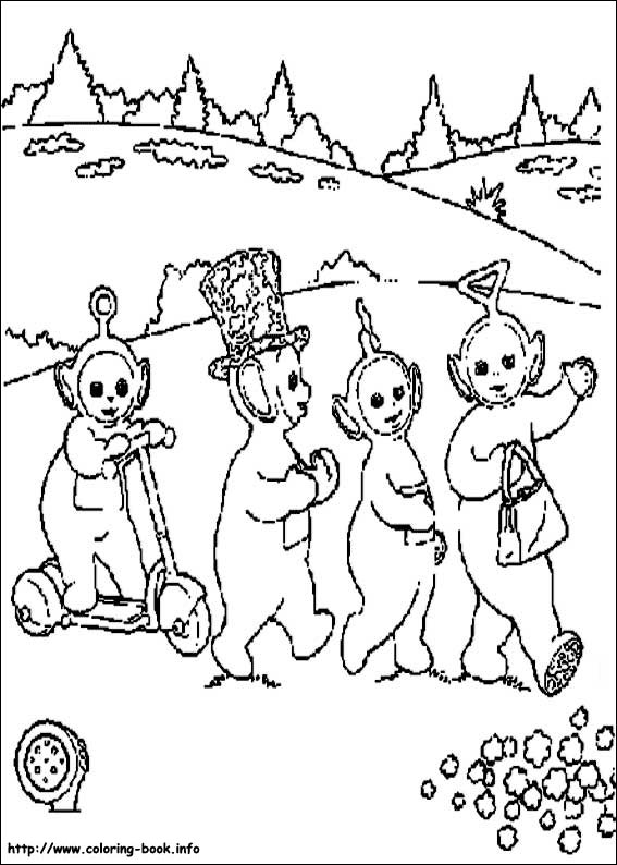 Teletubbies Coloring pages (1 | Cartoon coloring pages, Coloring ... | 794x567