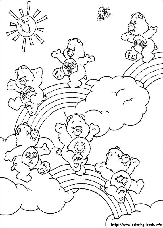 care bears coloring page | Bear coloring pages, Coloring books ... | 794x567