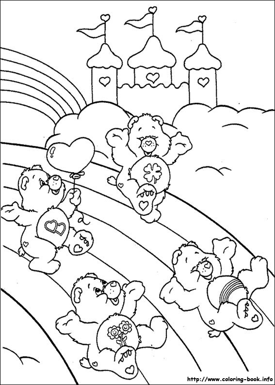 Care Bears Printable Coloring Pages for Kids - Get Coloring Pages | 794x567