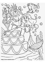 The Little Mermaid Coloring Pages On Coloring Book Info