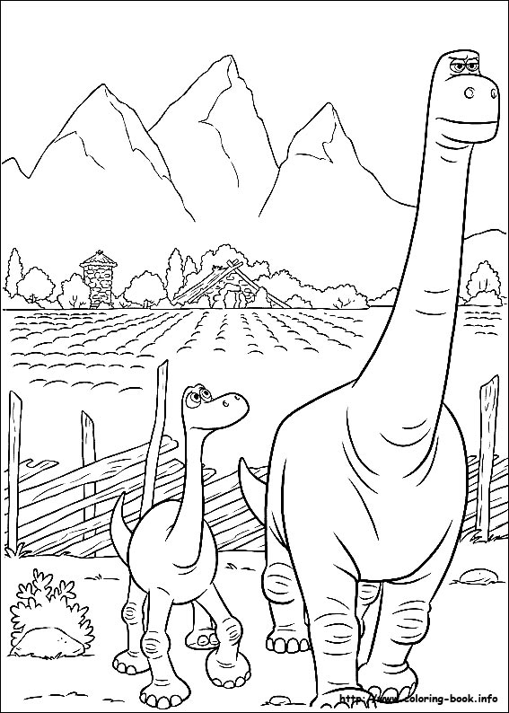 The Good Dinosaur Coloring Pages - GetColoringPages.com | 794x567