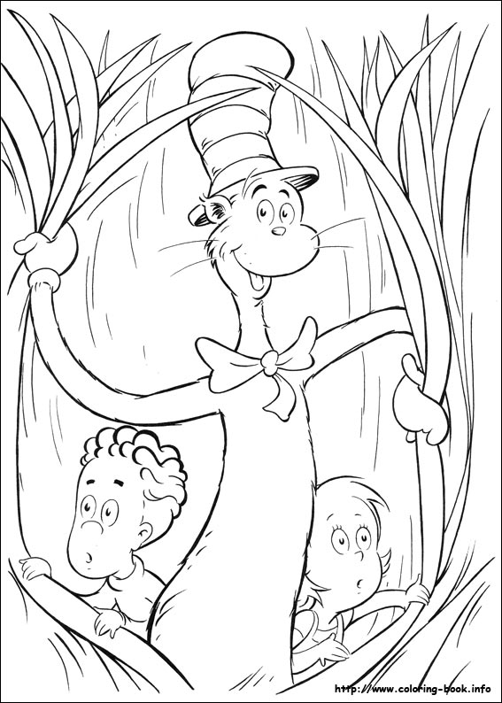 cat in the hat coloring pages Download - cat in the hat face ... | 794x567