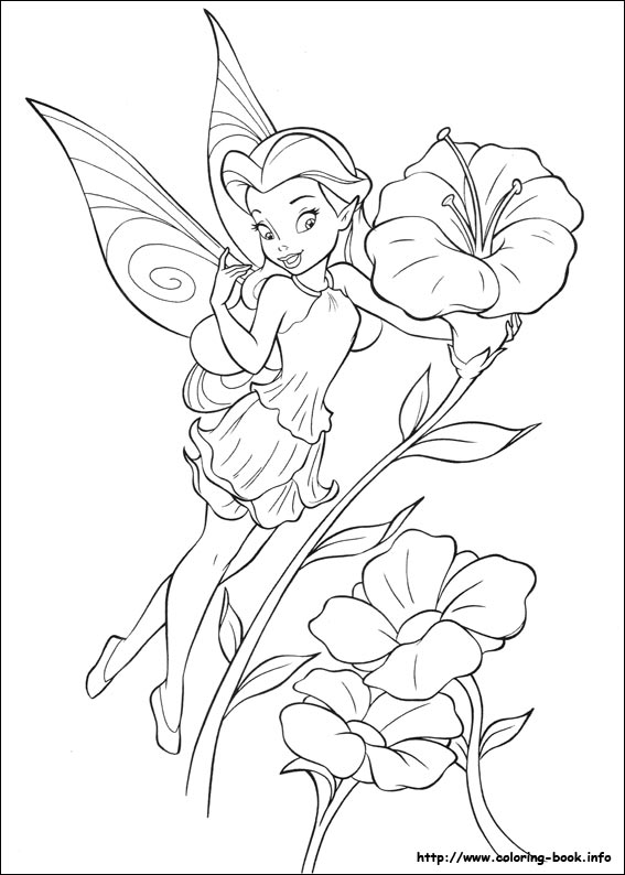 Friend Tinker Bell Silvermist Coloring Page | Tinkerbell coloring ... | 794x567