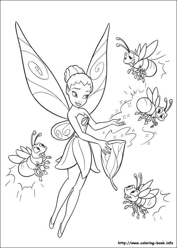 tinkerbell coloring pages on book info