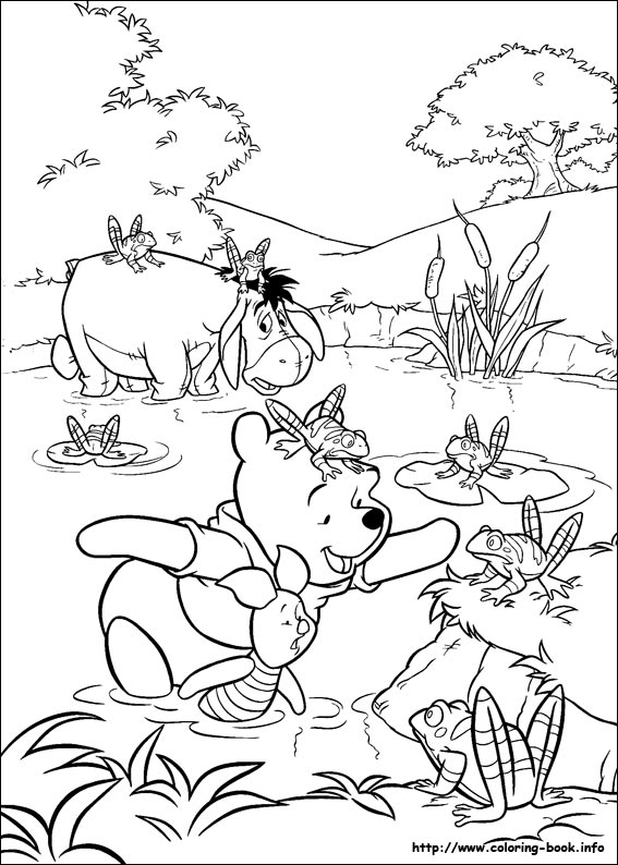 Cute Baby Winnie The Pooh Eating Hunny Coloring Page in 2020 ... | 794x567