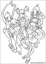 Winx Club Coloring Pages On Book Info