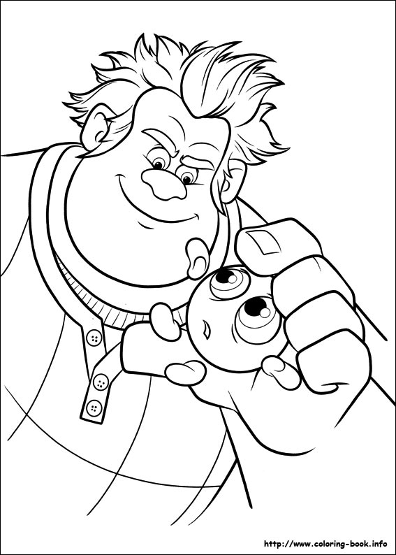 Coloriage Disney Ralph.Wreck It Ralph Coloring Picture